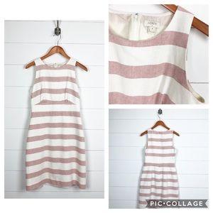 ~ J. Crew ~ Red & White Stripe Sheath Dress